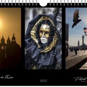 Couverture du calendrier Venise 2022