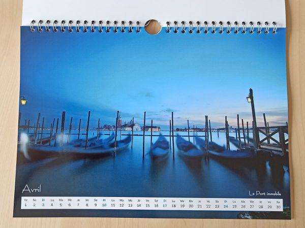 Mois d'avril du calendrier Venise 2022