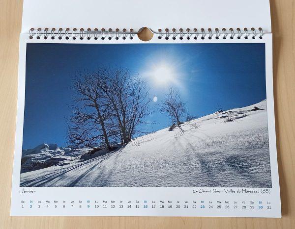 Mois de janvier du calendrier Paysages 2022